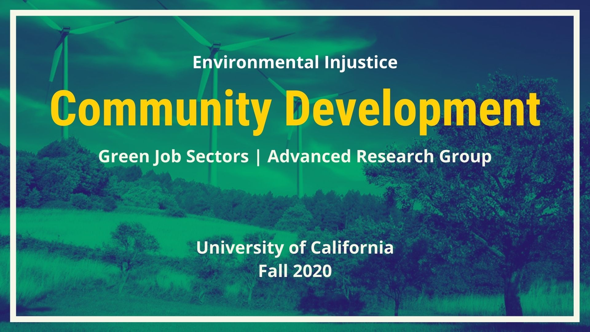 Green Job Sector: Community Development