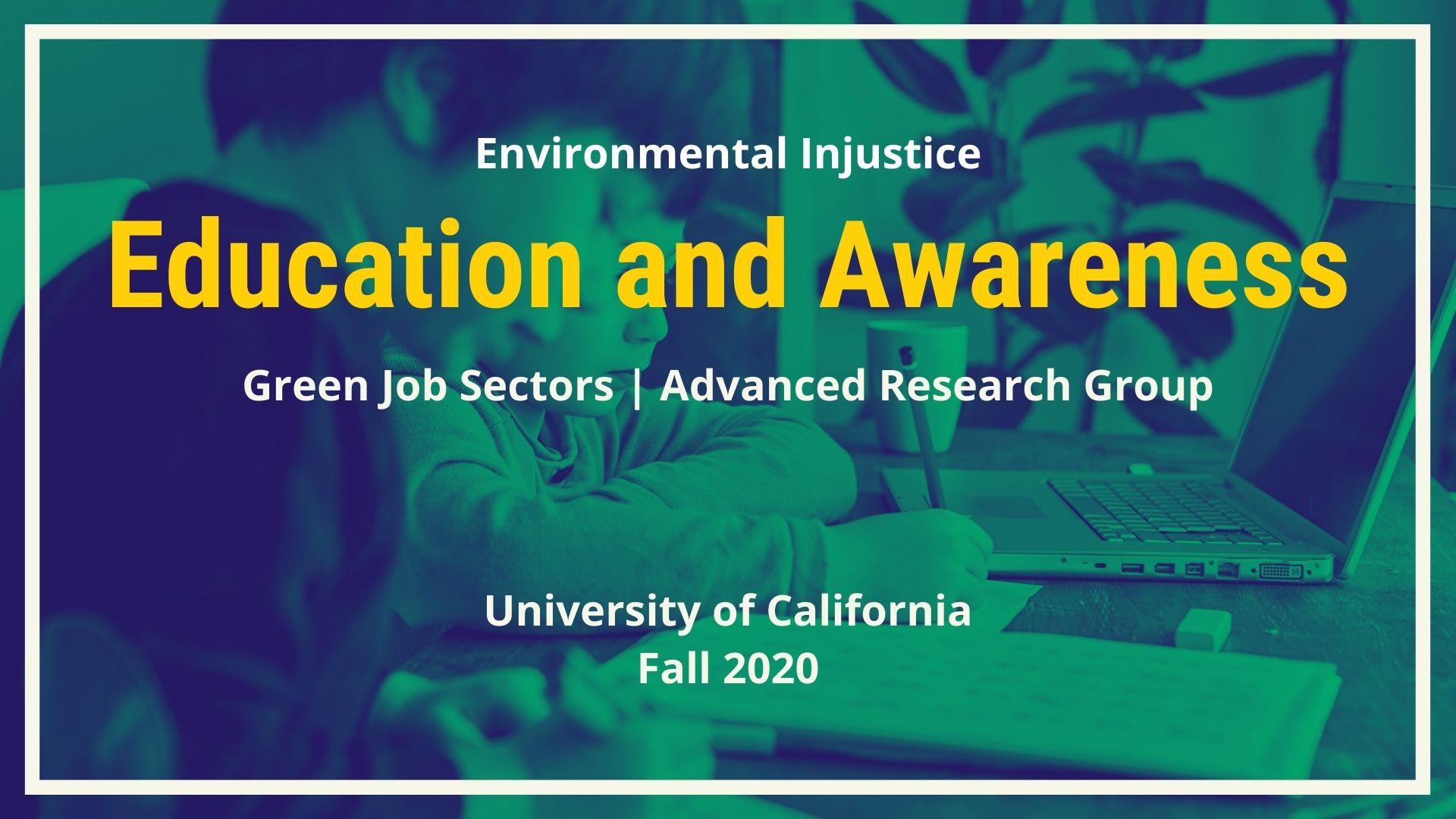 Green Job Sector: Education and Awareness