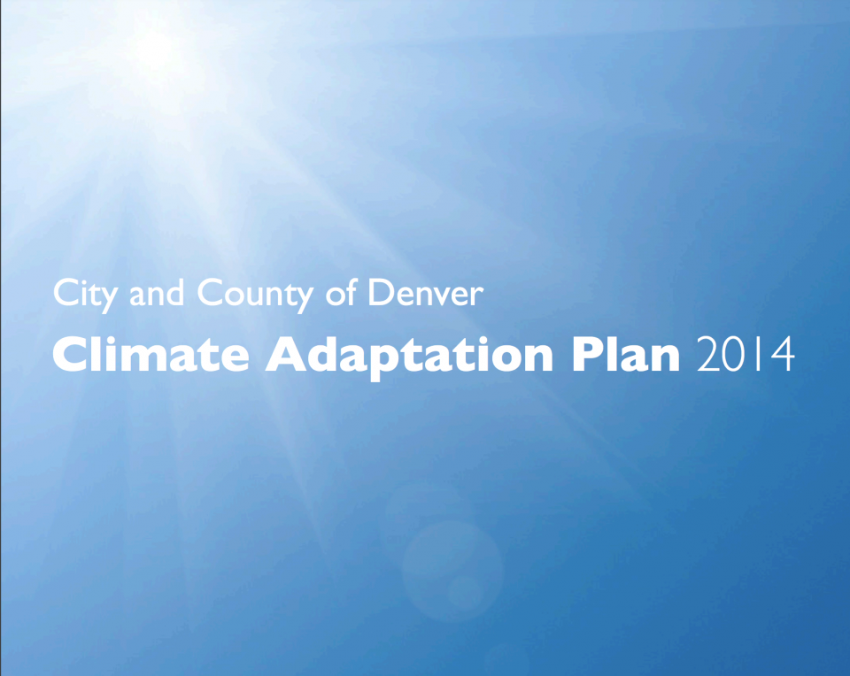 Denver Climate Adaptation Plan Screenshot