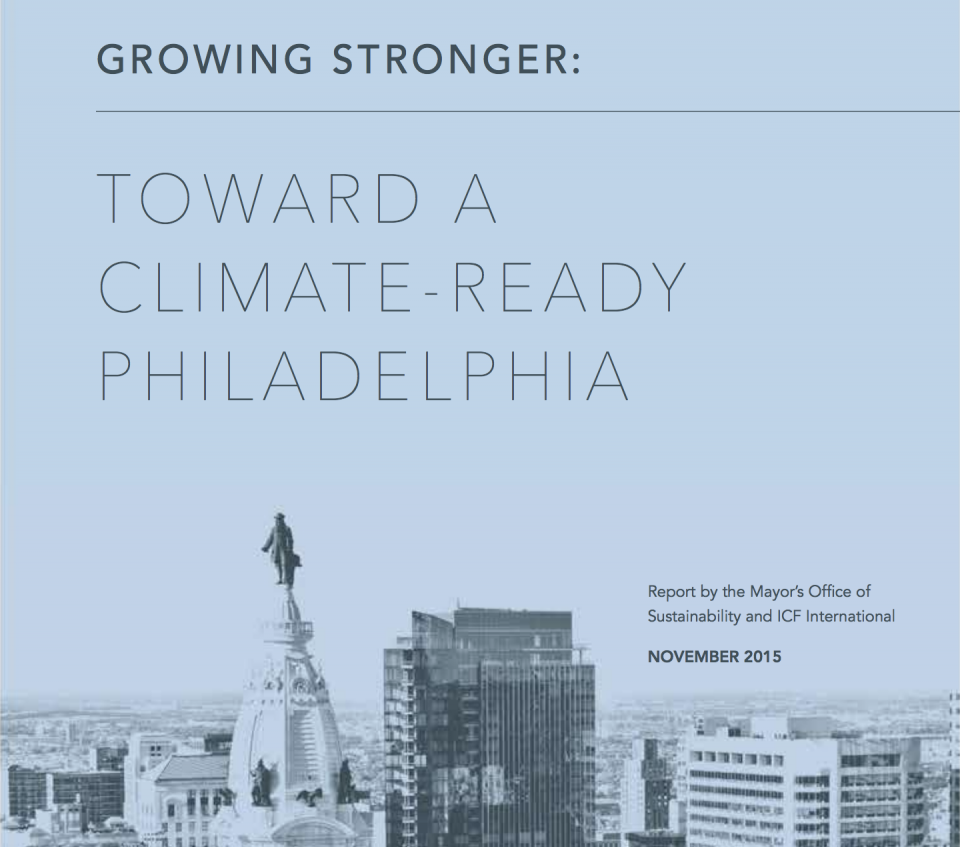 Growing Stronger: Toward a Climate Ready Philadelphia Screenshot