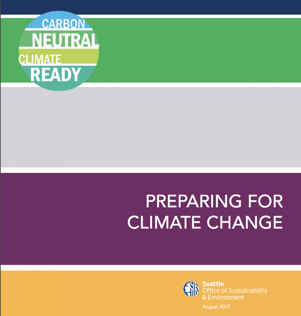 Seattle Climate Preparedness Strategy Screenshot