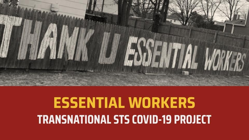 Signs says thank you essential workers