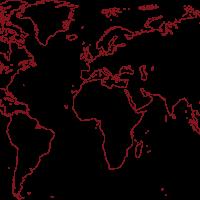 Line Drawn World Map