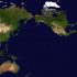 clone of AuthaGraph map centering Asia using NASA's Blue Marble Earth Map