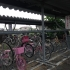 Photos of bikes left at the train station in Namie, an evacuated town in Fukushima prefecture.